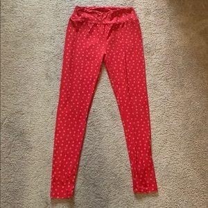 Lularoe red polka dot leggings